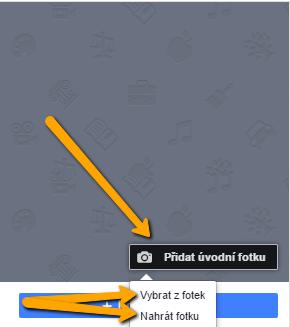 nahrání úvodní fotky na Facebook