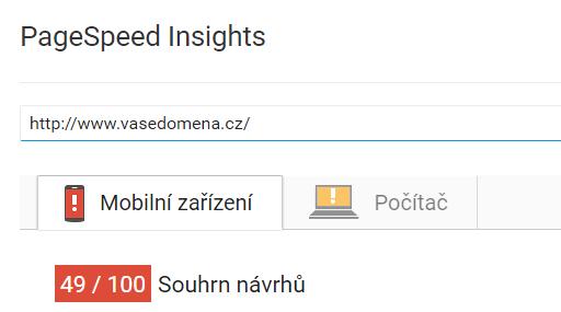 rychlost načítání webu