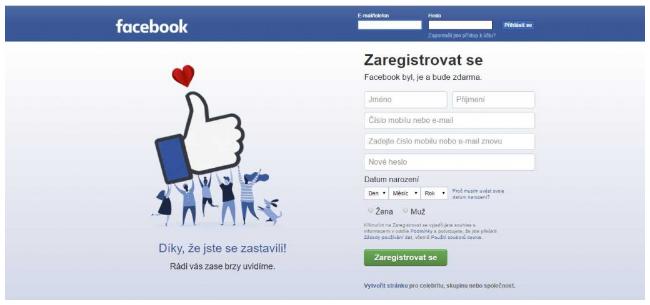 Vytvoření stránky na Facebooku