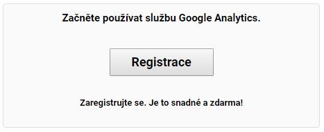 Registrace do Google Analytics