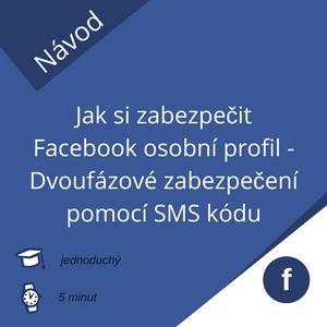Dvoufázové ověření Facebook účtu