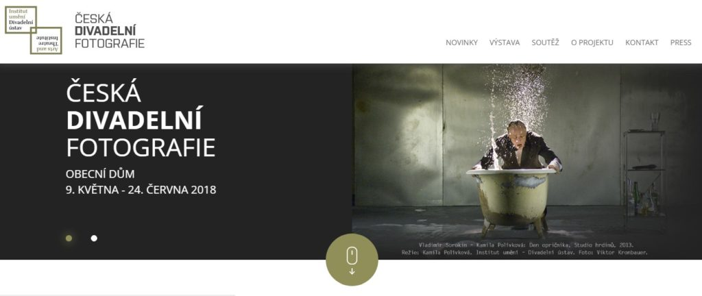 web pro Institut umění - Divadelní ústav