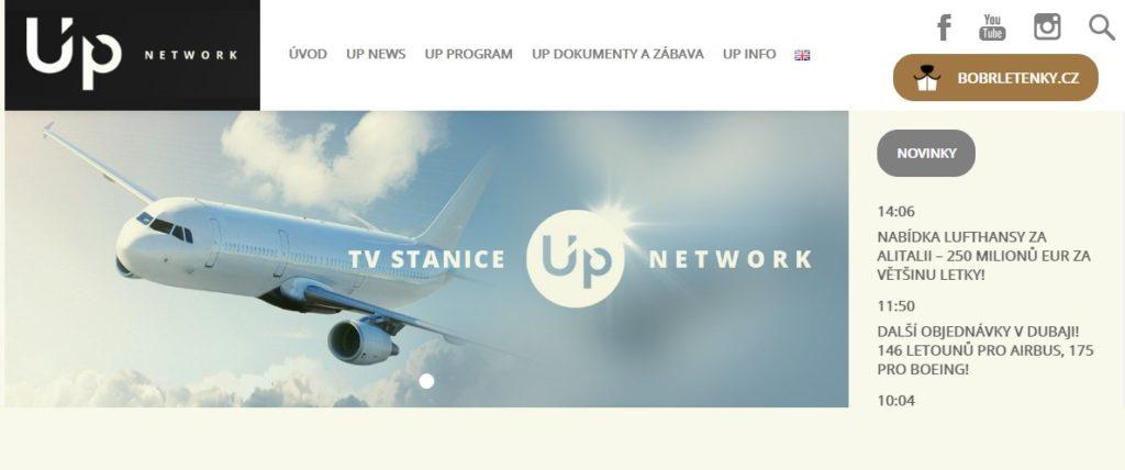 Náhled webu Up.network