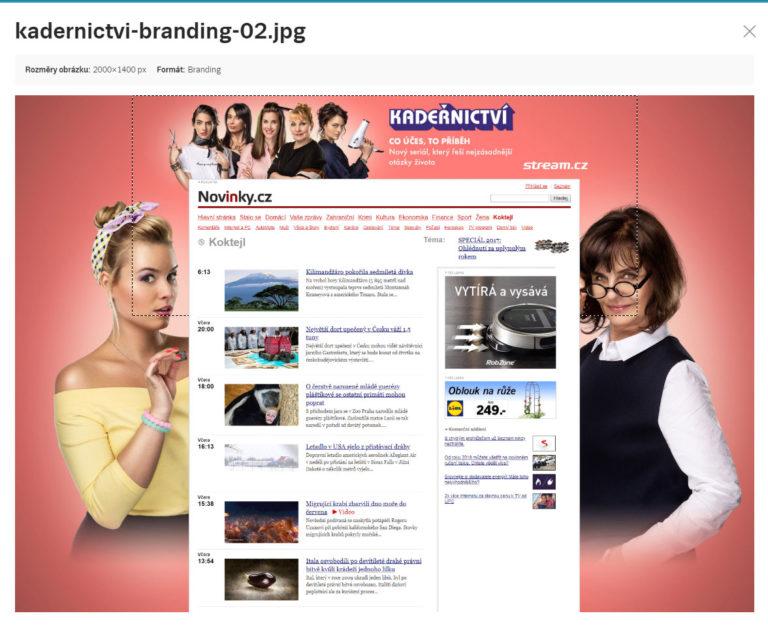 Ukázka brandingového formátu. Zdroj: Sklik.cz