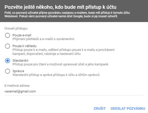 přístup google ads