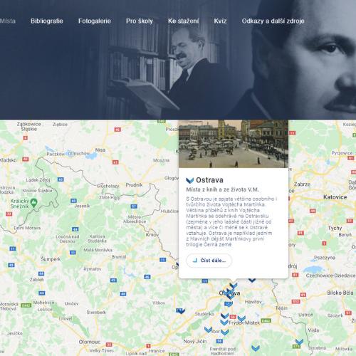 Vojtěch Martínek - mapa