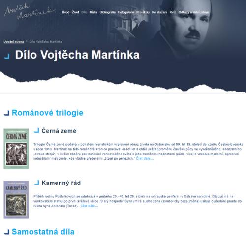 Vojtěch Martínek - dílo