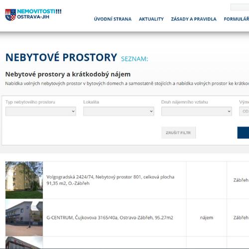 Nemovitosti Ostrava Jih