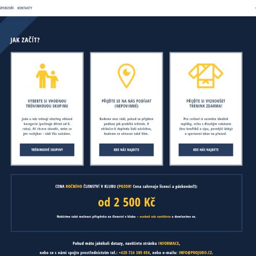 Ukázka webu ProJudo
